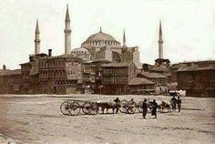 Ayasofya camisinin bilinen en eski görüntüsü (1854)