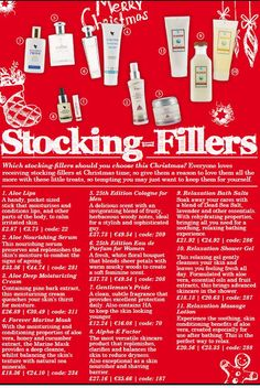 A few ideas for stocking fillers,   Please do take a look at my store: https://shop.foreverliving.com/retail/entry/Shop.do?store=GBR&language=en&distribID=440500029840