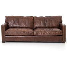 Larkin 3 Seater Vintage Cigar Contemporary Leather Sofa | Zin Home