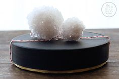 DIY: Creative gift wrapping using upcycled boxes. For a topper? Turn coffee filters into Borax crystal balls