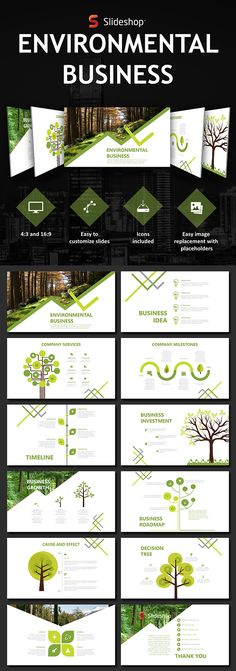 Environmental Business - #PowerPoint Templates #Presentation Templates Download here: https://graphicriver.net/item/environmental-business/19760040?ref=alena994