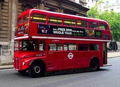 London's Heritage Routemaster Buses on routes 9 and 15
