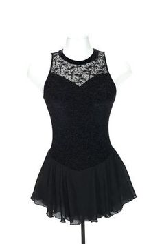 Jerry's Figure Skating Dress 273 - Overlace (Black)