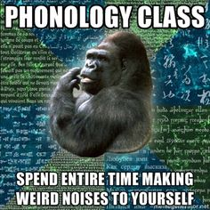 I'm looking forward to taking phonology! We def. did this in phonetics, though.