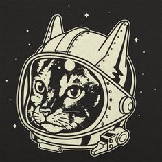Astro Cat T-Shirt by 6 Dollar Shirts. Thousands of designs available for men, women, and kids on tees, hoodies, and tank tops. Cat Lover Gifts, Cat Lovers, Cat From Outer Space, Space Cat, Cat Drawing, Cat Shirts, Cat Art, Retro, Drawings