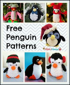 The penguin is one of the cutest winter animals there is and I'll tell you what - they are even cuter when they are knitted or crocheted. I was recently at the Shedd Aquarium in Chicago, IL and they brought out three little penguins and had them marc