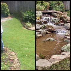 The Before After Is Always A Ful Photo What Change Beautiful Pondless Waterfall Makes In Your Life Designed Built By Carters Nursery Pond