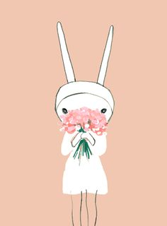 Remember to stop and smell the flowers  bunny kisses Fifi Lapin xxx