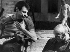 "The director, Andrei Tarkovsky, at work on ""Stalker."""