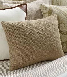 Jute #crochet spa pillow by Ralph Lauren, which shows that jute can be soft, too.
