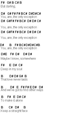 Flute Sheet Music: The Only Exception
