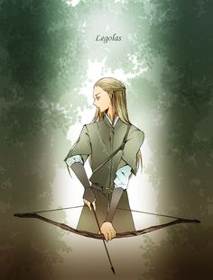 """Legolas from """"Lord of the Rings"""" - Art by アズマ@決戦のゆくえ on Pixiv, found via Zerochan"""