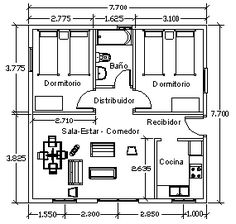 Get the details to build your own small house or shed today! 2 Bedroom House Plans, Bungalow House Plans, Small House Plans, House Floor Plans, Tower House, D House, Hotel Room Design, Apartment Plans, Home Design Plans