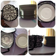 The Around We Go Thermal doesn't just have to be for hot or cold foods! Here it's storing 16 dinner plates!