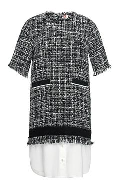 Short Sleeved Tweed Dress by MSGM for Preorder on Moda Operandi