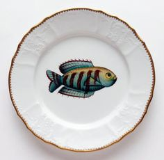 Antique Fish 9.5 In Dinner Plate No. 8 | Gracious Style