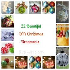 22 Beautiful DIY Christmas Ornaments
