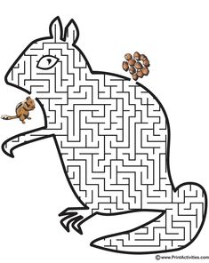 Chipmunk Shaped Maze Mazes For Kids Printable, Maze Worksheet, Worksheets, Bible Tools, Chipmunks, Riddles, Critical Thinking, Coloring Pages, Alphabet