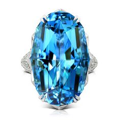 SJP Recod Breaking Santa Maria Aquamarine Ring by Kat Florence