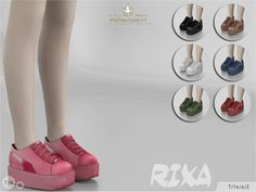 The Sims Resource: Madlen Rixa Shoes by MJ95 • Sims 4 Downloads