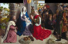 HUGO VAN DER GOES    LA ADORACIÓN DE LOS REYES MAGOS / ALTAR DE MONFORTE.    h. 1470 – Óleo sobre tabla (147 x 242)