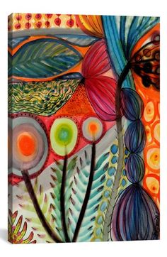 iCanvas 'Vivaces - Sylvie Demers' Giclée Print Canvas Art available at #Nordstrom