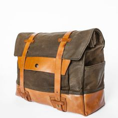 Pack Animal Saddlebag (Single) Leather and canvas.