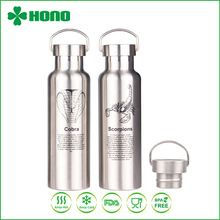[Outdoor Sports] 750ML Pure Stainless Steel Plastic Free Water Bottle / Sports Bottle/ Pure Stainless Flask