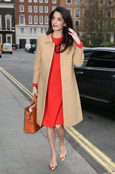 Amal Clooney's Vintage Outfit Is on Point - Looks Business Professional Right Until You See Her Shoes!! LOVE IT!!