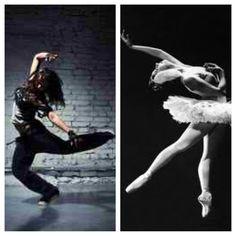 Hip hop an Ballet.