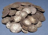 1150 year-old Viking treasure found in Sweden a few years ago consisted of mostly Middle-Eastern coins minted in Baghdad, Damascus and Persia.
