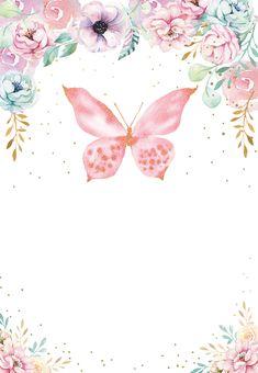 Glitter Bottle With Baby Oil - Green Glitter Body - Glitter Art Videos - Glitter Hair Long - Glitter Pattern Nails - Pink Glitter Clothes Butterfly Invitations, Butterfly Birthday Party, Butterfly Baby Shower, Pink Invitations, Baby Shower Invitations, Birthday Invitations, Card Birthday, Birthday Greetings, Birthday Ideas