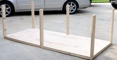 How to build an extra large DIY workbench with free plans and tutorial by Jen Woodhouse of The House of Wood. Workbench Organization, Workbench Plans Diy, Workbench Designs, Workbench Top, Jet Woodworking Tools, Woodworking Workbench, Woodworking Crafts, Industrial Workbench, Lumber Storage