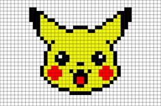 Pikachu has electricity-storing pouches on its cheeks. These appear to become electrically charged during the night while Pikachu sleeps. Pikachu Pikachu, Pixel Art Pikachu, Pixel Pokemon, Pikachu Crochet, Pokemon Comics, Easy Pixel Art, Cool Pixel Art, Anime Pixel Art, Pixel Art Animals