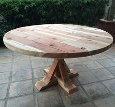 Real Reader Showcase for The Design Confidential Round Provence Beam Outdoor Dining Table
