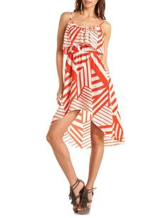 Abstract Print Hi-Low Dress: Charlotte Russe