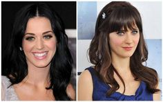 You'll definitely take a double take when you see how similar  these celebs are in appearance. Katy Perry and Zooey Deschanel