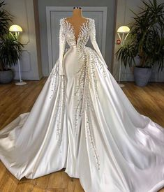 Prom Dresses Long With Sleeves, Ball Dresses, Dresses Dresses, Dresses Online, Formal Dresses, Beaded Prom Dress, Lace Dress, Gown Dress, Best Wedding Dresses