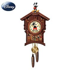Vintage-Style Mickey Mouse Art Cuckoo Clock $195.00