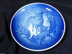 Vtg 1979 Royal Copenhagen Denmark Mors Dag Mother's Day Fox Family Plate | eBay