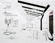 Example of concept rendering given to museum with instructions for installation.  Shows how with sculpture and installation, the piece does not exist in a vacuum, but you must consider the surroundings, the presentation and exactly how you will install it!  Shows the more technical side of the Arts and how a proposal might be prepared for a gallery/exhibition.