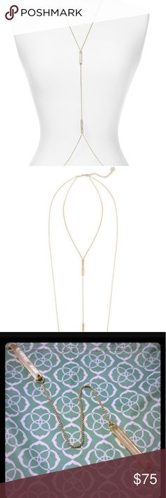 Kendra Scott James gold body necklace Kendra Scott James gold body necklace Kendra Scott Jewelry Necklaces