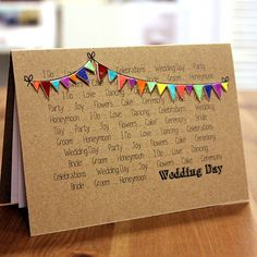 bright bunting wedding congratulations card by little silverleaf | notonthehighstreet.com