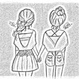 Drawings Of Best Friends drawing Tumblr Drawings, Bff Drawings, Pencil Art Drawings, Art Drawings Sketches, Easy Drawings, Cute Best Friend Drawings, Best Friend Sketches, Drawing Faces, Art Illustrations