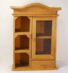 Small Wood And Wire Curio Cabinet   Like The Corners Framing The Shelves  And The Wire
