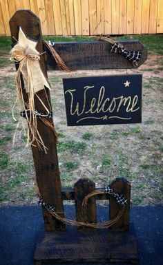 Cute Wood Bear Welcome Sign Craft Crafts Spring