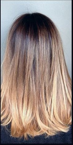 Ideas for hair color balayage at home dark brown Cabelo Ombre Hair, Diy Ombre Hair, Ombre Hair Color, Diy Hair Colour, Blonde Color, Love Hair, Great Hair, Awesome Hair, Pelo Bronde