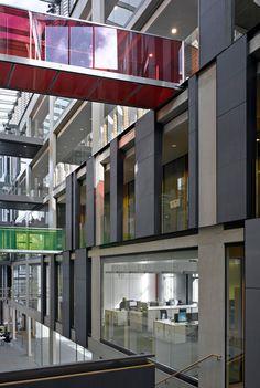 Abercrombie Atria Planet Partitioning Designed Bespoke Glazing For The OBU Building Using