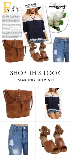 """ROMWE 7/2"" by melissa995 ❤ liked on Polyvore"