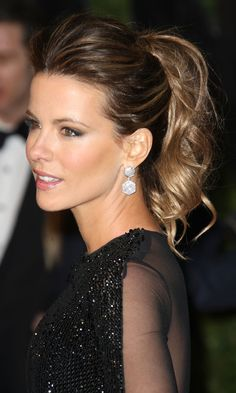 Kate Beckinsale's Textured Ponytail Is A Winning Look, 2011